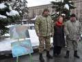 На Майдані Незалежності відбулась виставка картин, намальованих у зоні АТО