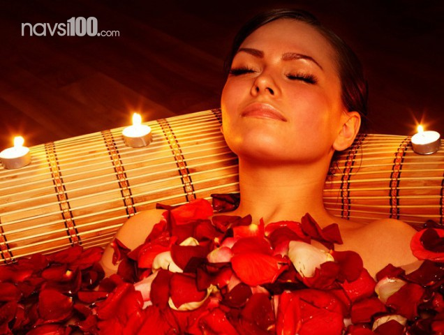 9 романтических идей для ванной