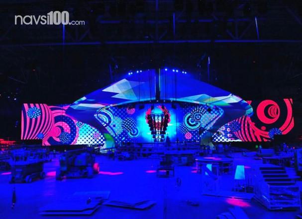 Сцена для «Евровидения-2017» полностью готова, начались первые репетиции