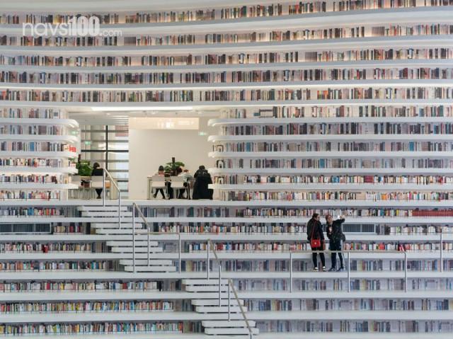 Мрія книголюба – бібліотека у формі ока працює в Китаї